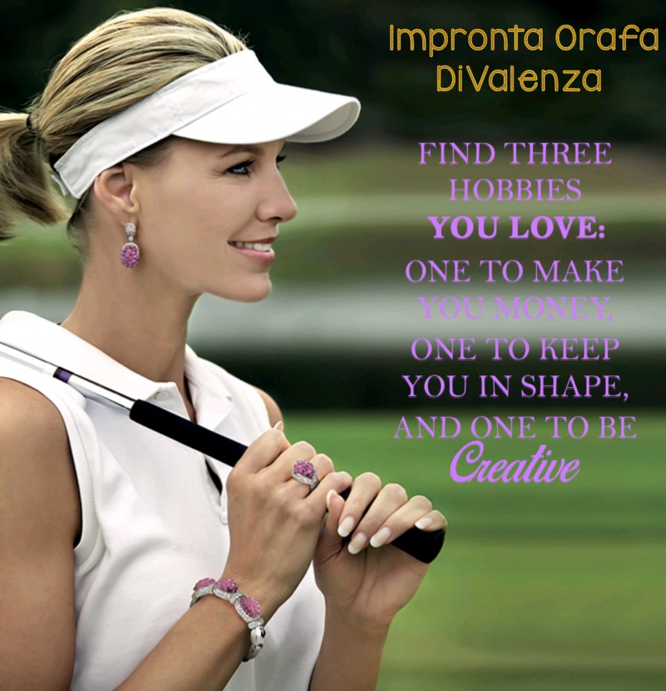 Glamour tennis: Made in Italy jewels